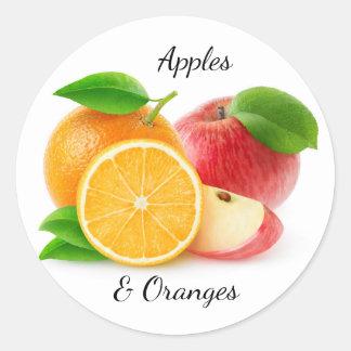 Sticker Rond Pommes et oranges