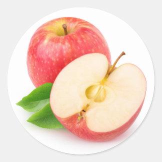 Sticker Rond Pommes rouges