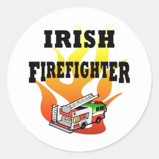 Sticker Rond Pompiers irlandais