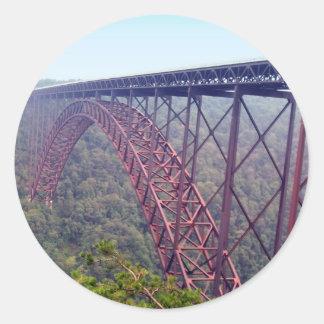 Sticker Rond Pont de gorge de nouvelle rivière