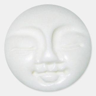 Sticker Rond Porcelaine de déesse de lune