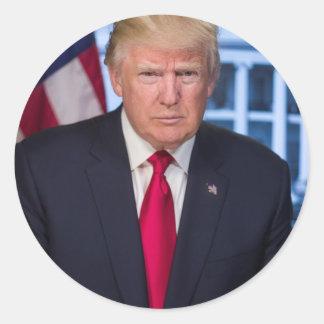 Sticker Rond Pour des fans du Président Donald Trump