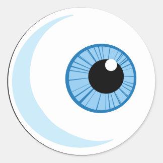 Sticker Rond Pourcentage-Libre-Rf-Copyright-sûr-bleu-oeil-Ball
