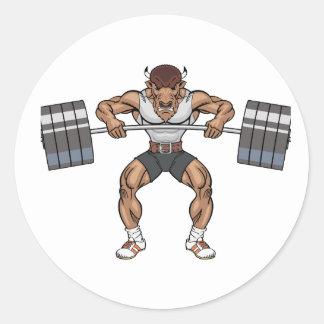 Sticker Rond poussoir de poids de bison