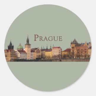 Sticker Rond Prague
