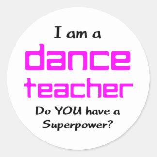 Sticker Rond professeur de danse