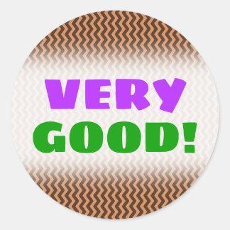 Sticker Rond Profil onduleux brun clair et foncé rustique de