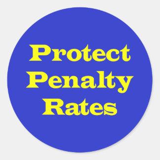 Sticker Rond Protégez les taux de pénalisation