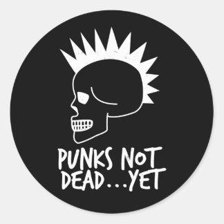Sticker Rond Punks pas complètement… pourtant blanc de crâne