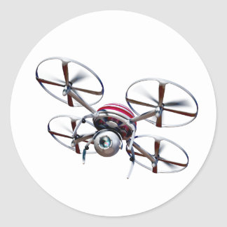 Sticker Rond Quadrocopter de bourdon