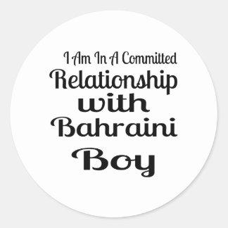 Sticker Rond Rapport avec le garçon bahreinite