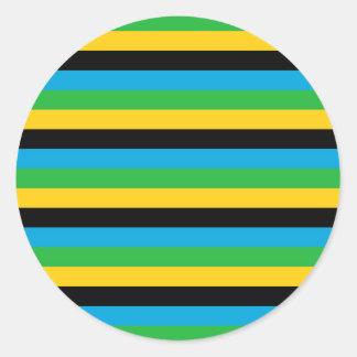 Sticker Rond Rayures de drapeau de la Tanzanie