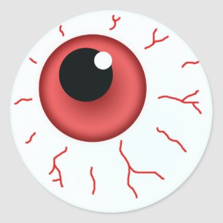 Sticker Rond Red Eye pour l'amusement Halloween