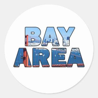 Sticker Rond Région de Baie de San Franciso