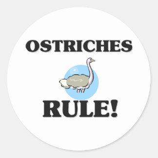 Sticker Rond Règle d'AUTRUCHES !