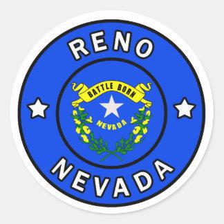 Sticker Rond Reno Nevada