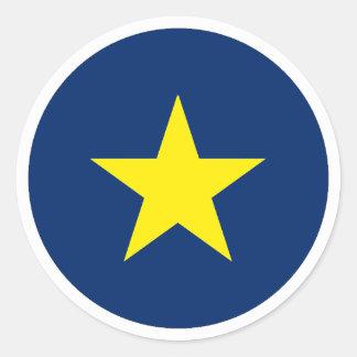 Sticker Rond République du Texas
