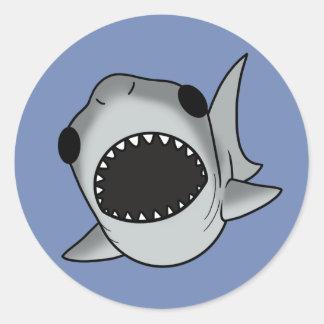 Sticker Rond Requin idiot