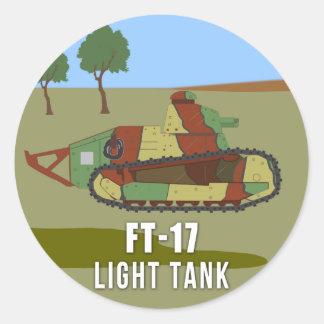 Sticker Rond Réservoirs de WWI : Réservoir FT-17 léger