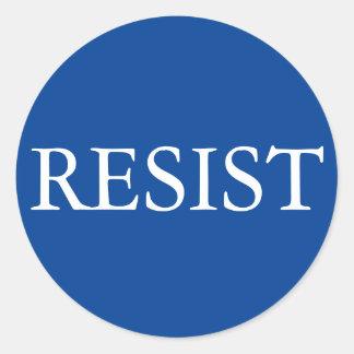 Sticker Rond RÉSISTEZ autour de l'autocollant