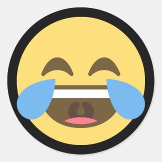 Sticker Rond Rire et cri Emoji