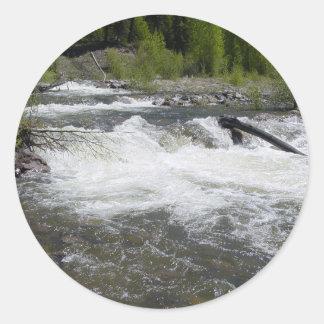 Sticker Rond Rivière dans les montagnes rocheuses