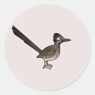 Sticker Rond Roadrunner mignon de Birdorable