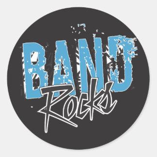 Sticker Rond Roches grunges géniales de fanfare