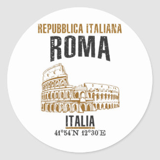 Sticker Rond Roma