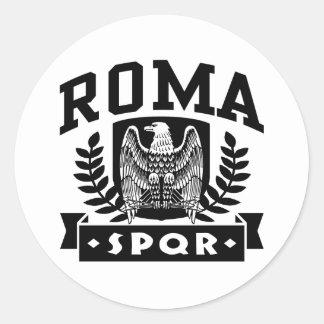 Sticker Rond Roma SPQR