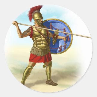 Sticker Rond Romains