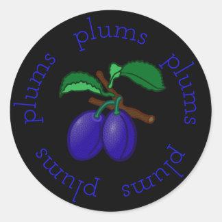 Sticker Rond Ronds de prune