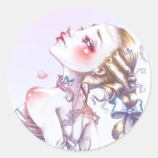 Sticker Rond Rose de Versailles