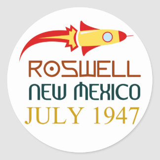 Sticker Rond Roswell New Mexique july 1947