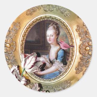 Sticker Rond Sa Majesté, la Reine Marie Antoinette, phoques