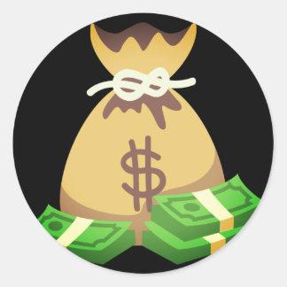 Sticker Rond Sac riche du vibraphone | d'argent Emoji