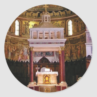 Sticker Rond saint changez dans l'église