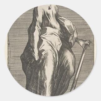 Sticker Rond Saint Judas (ou saint Matthias)