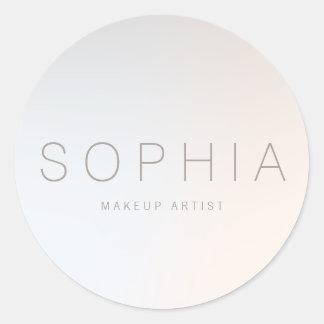 Sticker Rond Salon de beauté minimaliste moderne chic