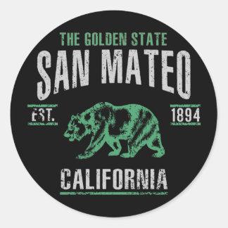Sticker Rond San Mateo