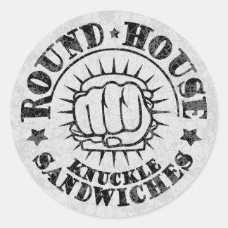 Sticker Rond Sandwichs ronds à Chambre