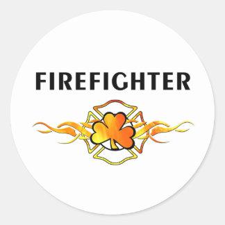Sticker Rond Sapeur-pompier IRLANDAIS