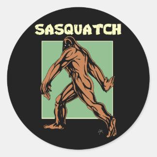 Sticker Rond Sasquatch