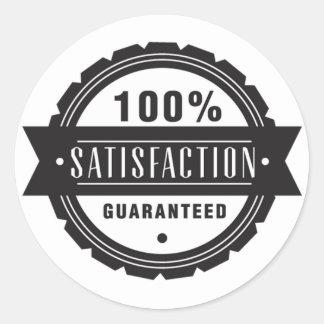 Sticker Rond Satisfaction garantie