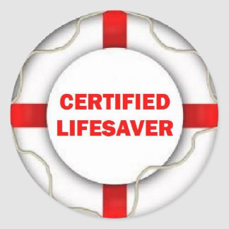 Sticker Rond Sauveteur certifié par lac