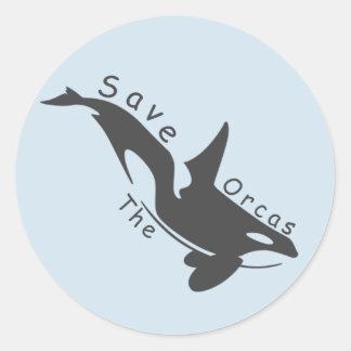 Sticker Rond Sauvez les orques