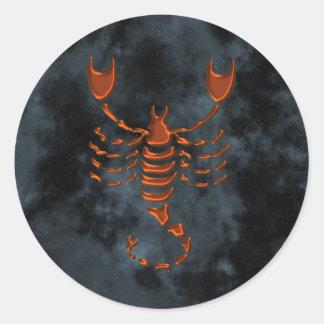 Sticker Rond Scorpion