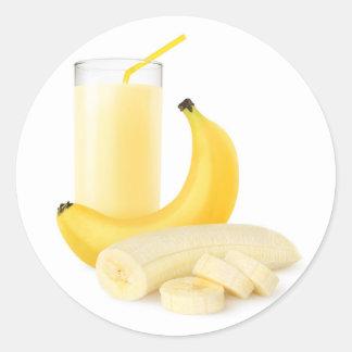 Sticker Rond Secousse de banane