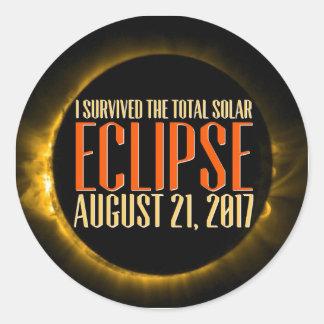 Sticker Rond Serez-vous témoin de l'éclipse dans elle est-vous