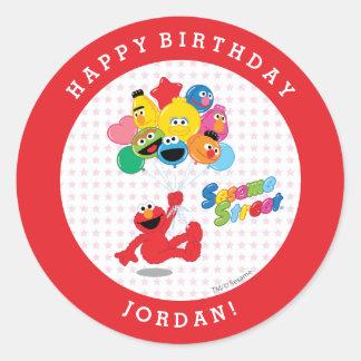 Sticker Rond Sesame Street | Elmo et copains - ballons